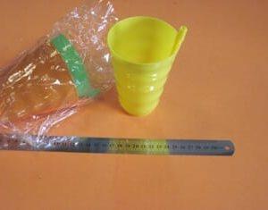 כוס פלסטיק עם קש | כוס פלסטיק רב פעמית
