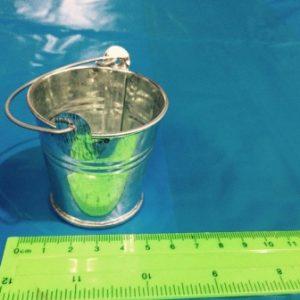 דלי דמוי פח קטן | דלי פלסטיק