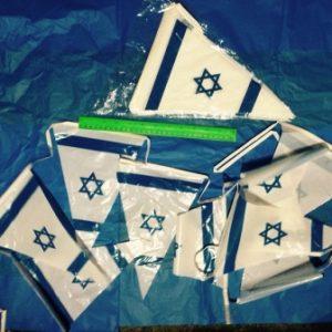 דגלי ישראל שרשרת | שרשרת דגל ישראל משולש | אורך 5 מטר