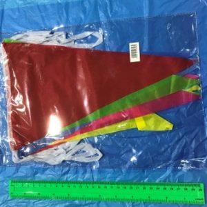 שרשרת דגלים צבעונית 4 מטר | שרשרת דגלים משולשים | קישוטים למסיבות