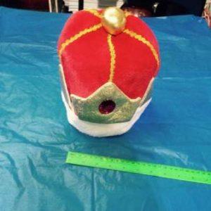 כובע מלך פרווה מפואר | תחפושת מלך