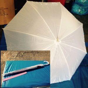 מטריות לבנות | 21 אינצ' חזקה | מטרייה לבנה