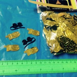 קונפטי תפילין 13 | 50 גר' זהב ושחור | קונפטי לאירועים
