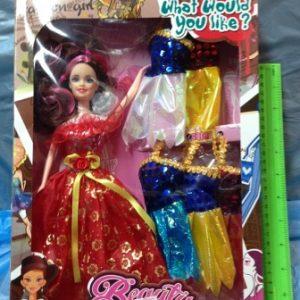 בובה עם בגדים להחלפה | בובה לילדות
