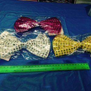 עניבת פפיון בד עם נצנצים | גודל בינוני