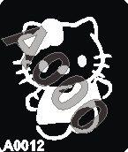 קעקוע הלו קיטי | קעקועי נצנץ | שבלונה דגם 12