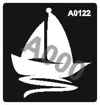 קעקוע סירה | קעקועי נצנץ | שבלונה דגם 122