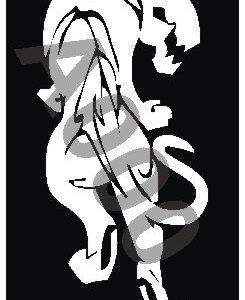 קעקוע נמר | קעקועי נצנץ | גדול דגם 145