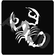 קעקוע עקרב | קעקועי חינה | גדול דגם 156
