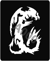 קעקוע דרקון | קעקוע זמני | שבלונה דגם 165