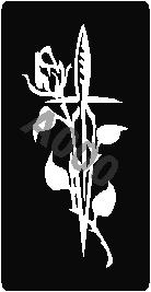 קעקוע חרב עם פרחים | קעקוע זמני | שבלונה דגם 171