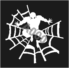 קעקוע ספיידרמן | קעקועי חינה | שבלונה דגם 179