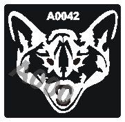 קעקוע זאב | קעקועי חינה | שבלונה דגם 042