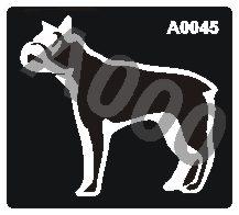 קעקוע כלב | קעקועי נצנץ | שבלונה דגם 045