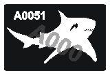 קעקוע כריש | קעקועי נצנץ | שבלונה דגם 051