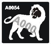קעקוע אריה | קעקוע זמני | שבלונה דגם 054