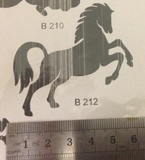 קעקוע סוס | קעקוע זמני | שבלונה דגם 212