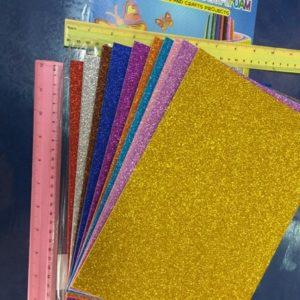 דפי סול מדבקה נוצצים מארז 10 יחידות