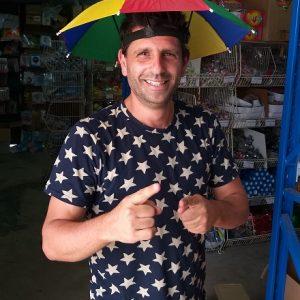 כובע מטרייה לראש | מטריות לילדים