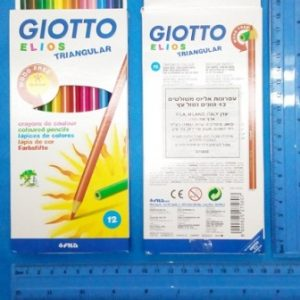עפרונות צבעוניים 12 יחידות של Giotto