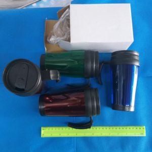 כוס תרמית | ספל תרמית 0.4 פלסטיק כפול