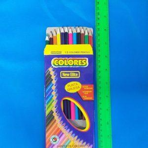 עפרונות צבעוניים רגיל | עפרון צבעוני 12 יחידות איכותי