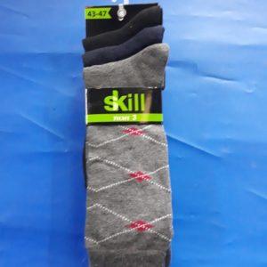 גרביים | ארוך 3 זוגות 43-47