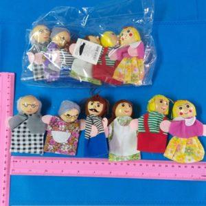 בובת תיאטרון אצבעות בובות אצבע משפחה 6 בובות