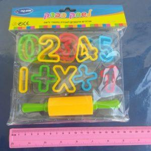 חותכנים לבצק מספרים ומערוך | שבלונות לבצק | חותכנים לפלסטלינה ובצק