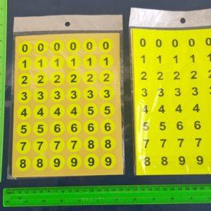 מדבקות מספרים מדבקות מספרים קטנות