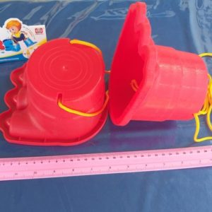 דלי להליכה זוג וחבל | קביים לילדים | דלי פלסטיק כף רגל