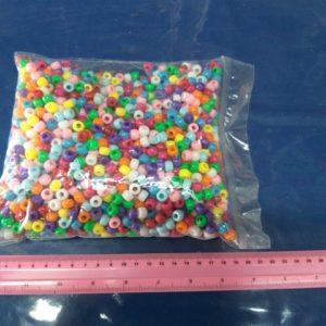 חרוזים פלסטיק מעורב צבעים | חרוזים בשקית כ450 גרם