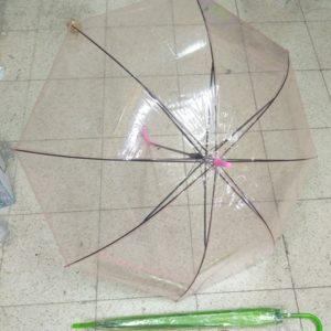 מטריות בצבע ורוד שקוף | מטרייה שקוף 21 אינצ'