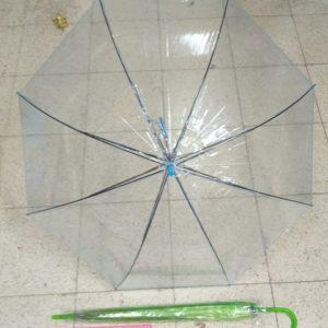 מטריות בצבע כחול שקוף | מטרייה שקוף 21 אינצ'