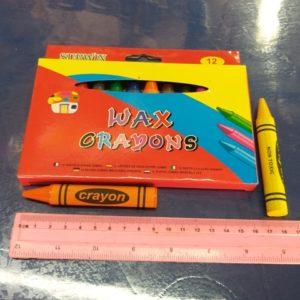 צבעים עבים לילדים 12 יחידות | צבעי פסטל | צבעי שעווה
